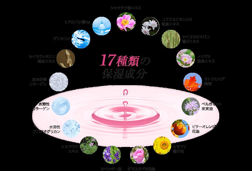 理想的な 美容成分配合! 93.3%配合 17種類の保湿成分