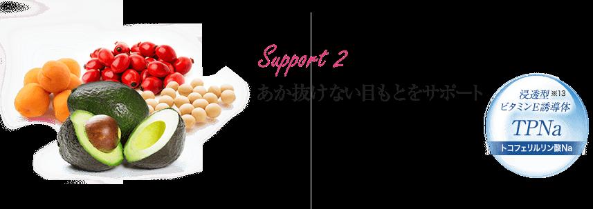 Support 2 あか抜けない目もとをサポート