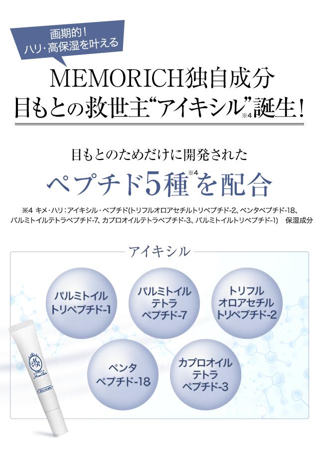MEMORICH独自成分目もとの救世主アイキシル誕生!