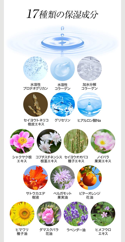 17種類の保湿成分